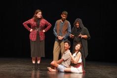 Les comediens (Sara Callychurn, Nouman Burthen, Anesh Mungur, Martha Moikeenah & Estelle Lasémillante)